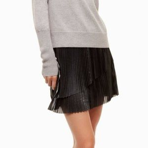 Aritzia Wilfred Bethune Pleated Satin Mini Skirt